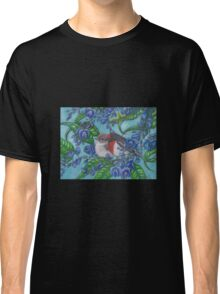 """""""Red Capped Robins Awaiting Dinner Guest"""" Classic T-Shirt"""