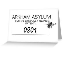 Joker's Arkham Asylum Shirt Greeting Card