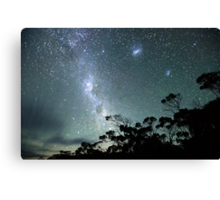 Milky Way from a very dark place Canvas Print
