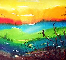 Colours of Twilight - Landscape by Linda Callaghan
