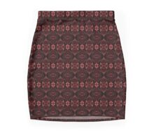 Burgundy Velvet Mini Skirt
