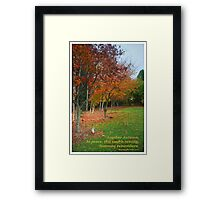 Autumn Rememberance Framed Print
