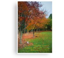 Autumn Rememberance Canvas Print