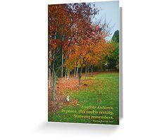 Autumn Rememberance Greeting Card