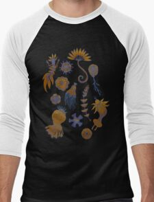 Sea Ballet in Psychedelic Colors, more apologies to Ernst Haeckel Men's Baseball ¾ T-Shirt