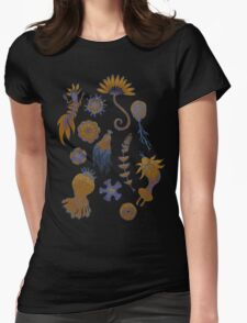 Sea Ballet in Psychedelic Colors, more apologies to Ernst Haeckel Womens Fitted T-Shirt