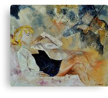 listening to the violin Canvas Print