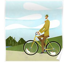 Tweed Cyclist on Mice Power Poster Poster