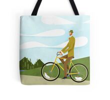 Tweed Cyclist on Mice Power Poster Tote Bag
