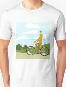 Tweed Cyclist on Mice Power Poster T-Shirt