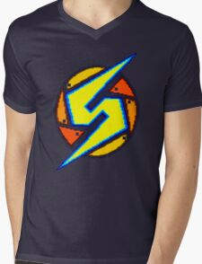 Super Metroid - Samus Logo Mens V-Neck T-Shirt