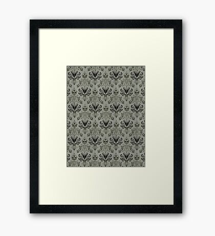 The Haunted Mansion Wallpaper Framed Print