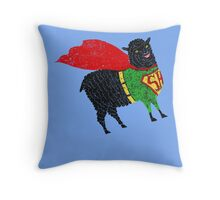 Superhero  Sheep Throw Pillow