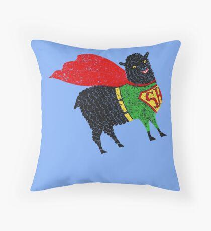 Superhero  Sheep Throw Pillow