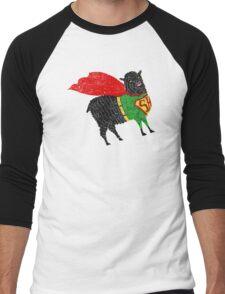Superhero  Sheep Men's Baseball ¾ T-Shirt