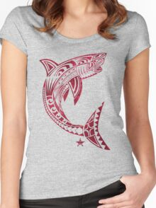 Great White Bite Women's Fitted Scoop T-Shirt