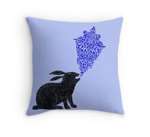 Rabbit Sings the Blues Throw Pillow