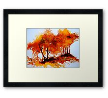 The Trees-Autumn Framed Print