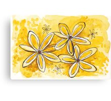 Sunny yellow daisies Canvas Print