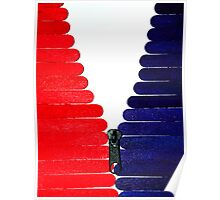 Red-White-Blue Popsicle Sticks Zip Poster