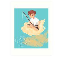 Cloud Fishing Art Print