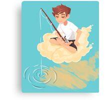 Cloud Fishing Canvas Print