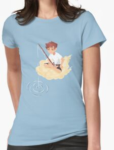 Cloud Fishing Womens Fitted T-Shirt