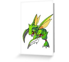 Shiny Scyther Greeting Card