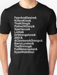 Stanley Kubrick - filmography Unisex T-Shirt