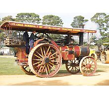 Traction Engine 1910 Photographic Print