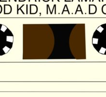 good kid, maad city - cassette Sticker