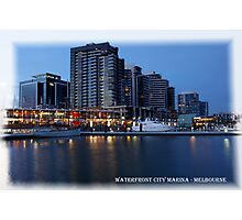 Waterfront, City Marina ~ Docklands Photographic Print