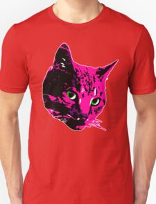 Electric Pink Tabby Face T-Shirt