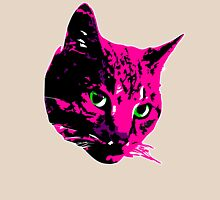 Electric Pink Tabby Face Unisex T-Shirt