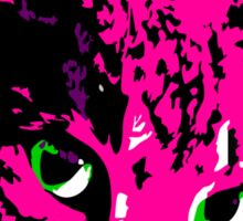 Electric Pink Tabby Face Sticker