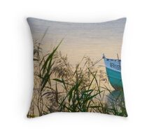 Sunset by the shore Throw Pillow