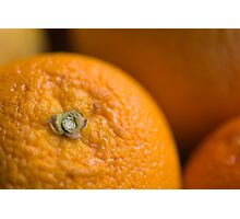 Orange Belly Button Photographic Print