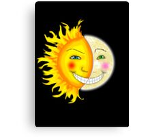 Sun and Moon No Back Ground Canvas Print