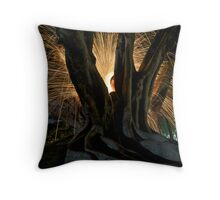 Fire Angel Xmas Tree II Throw Pillow