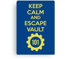 Keep Calm Vault 101 Canvas Print