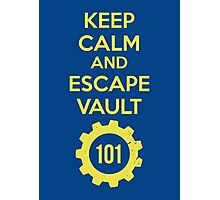 Keep Calm Vault 101 Photographic Print