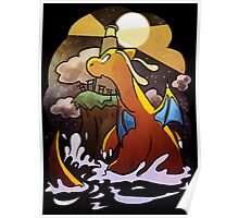 DRAGONITE LIGHTHOUSE  Poster