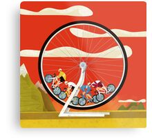 Road Cycle Racing on Hamster Power Metal Print