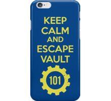 Keep Calm Vault 101 iPhone Case/Skin