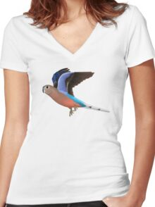 Birding and Wildlife: Bourkes Parrot Women's Fitted V-Neck T-Shirt