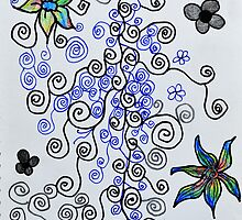 Cascade of Flowers by MelDesign