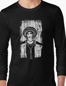 Sad Faced Woman In Black Long Sleeve T-Shirt