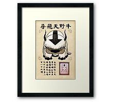 Avatar the Last Airbender - Lost Appa Wanted Poster Framed Print