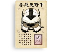 Avatar the Last Airbender - Lost Appa Wanted Poster Canvas Print