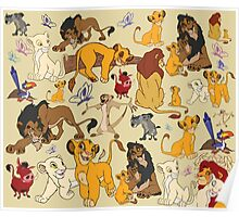 The Lion King Character Collage. Poster